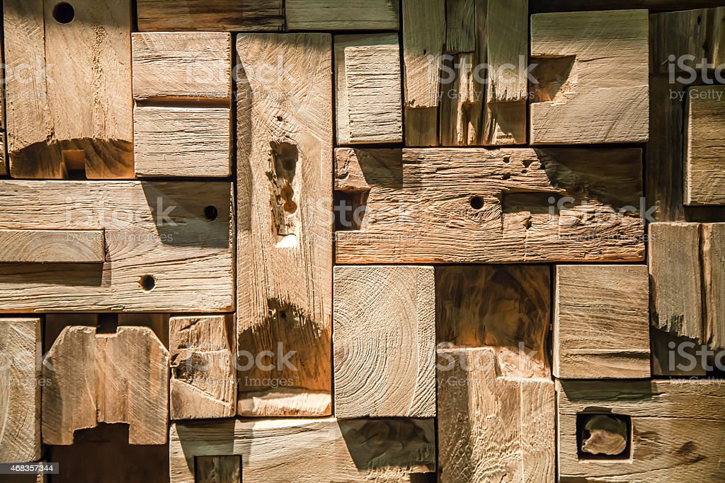 Texture with pieces of wood cut royalty-free stock photo