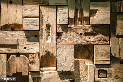 Texture With Pieces Of Wood Cut Stock Photo & More Pictures of 2015