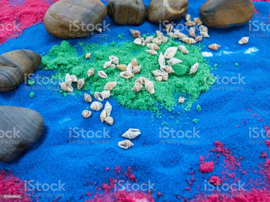 texture  written  in colors sand royalty-free stock photo