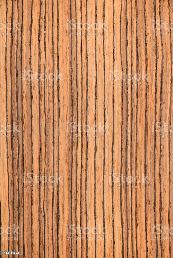 texture zebrano, wood grain stock photo