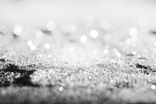 Textured abstract background Glitter silver or White gold or Platinum stock photo