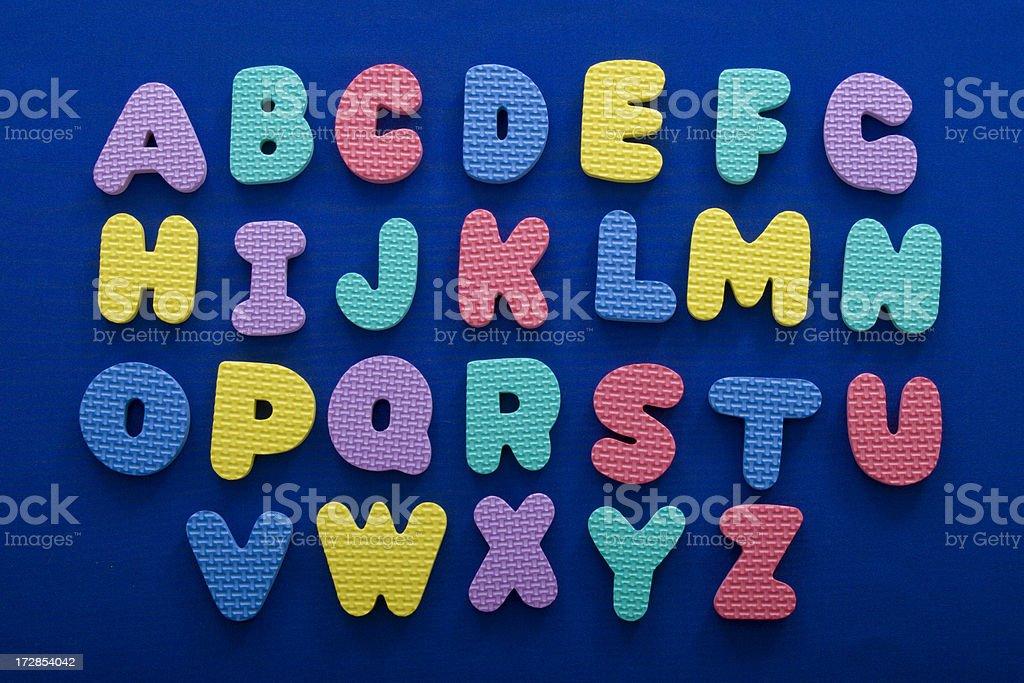 Textured Alphabet royalty-free stock photo