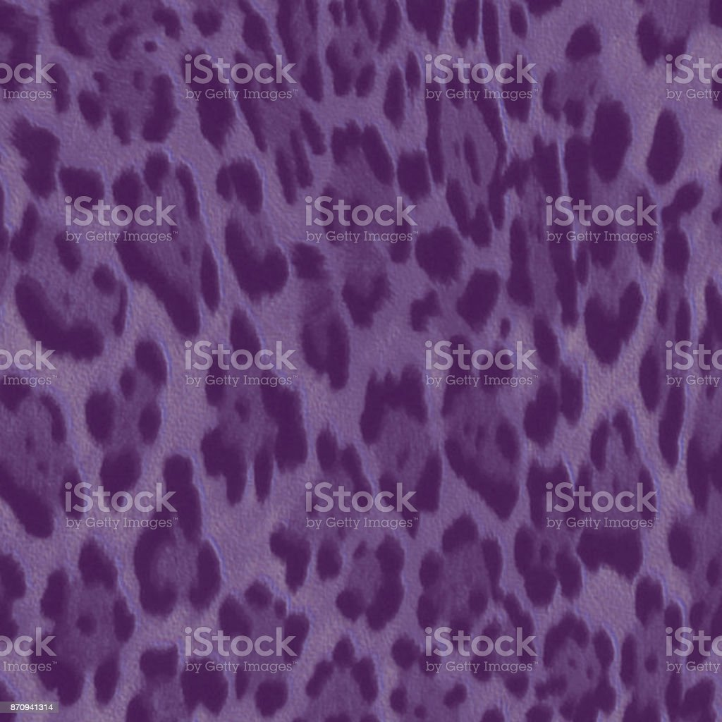 Textured and purple colored leopard pattern stock photo