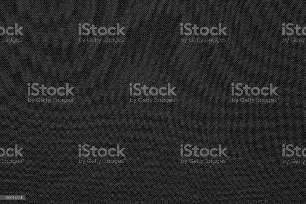 textured background fabric of black color stock photo
