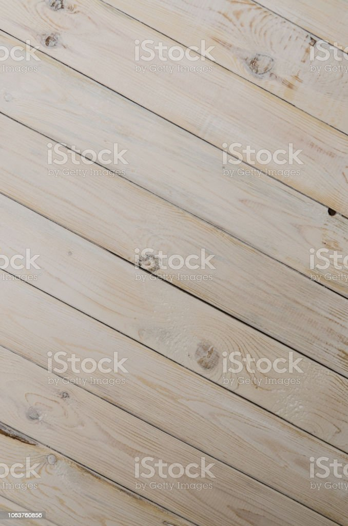 Textured background. Light boards. Wood Brown wood plank wall stock photo