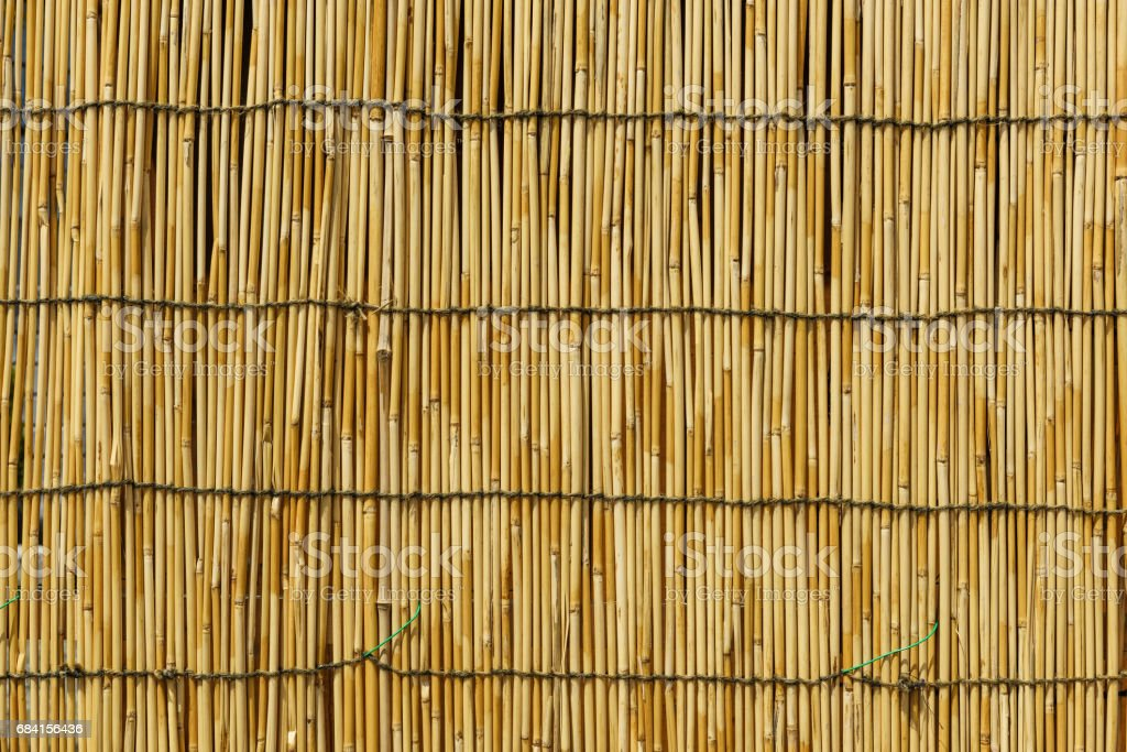 textured background of bamboo curtain or wall foto stock royalty-free
