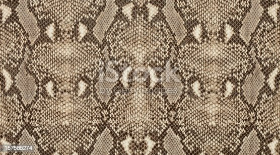 Textured background of genuine leather in python skin pattern.