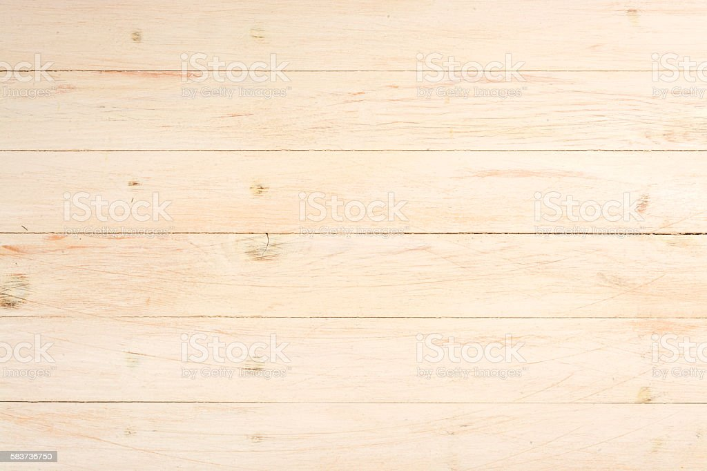 Textured background of light wooden boards stock photo