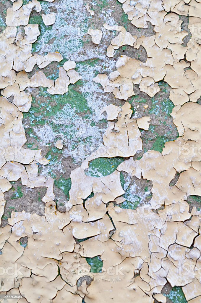Textured background - peeling paint on old concrete stock photo