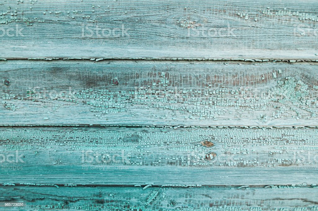 Textured background - wooden planks covered with peeling paint - Royalty-free Abandoned Stock Photo