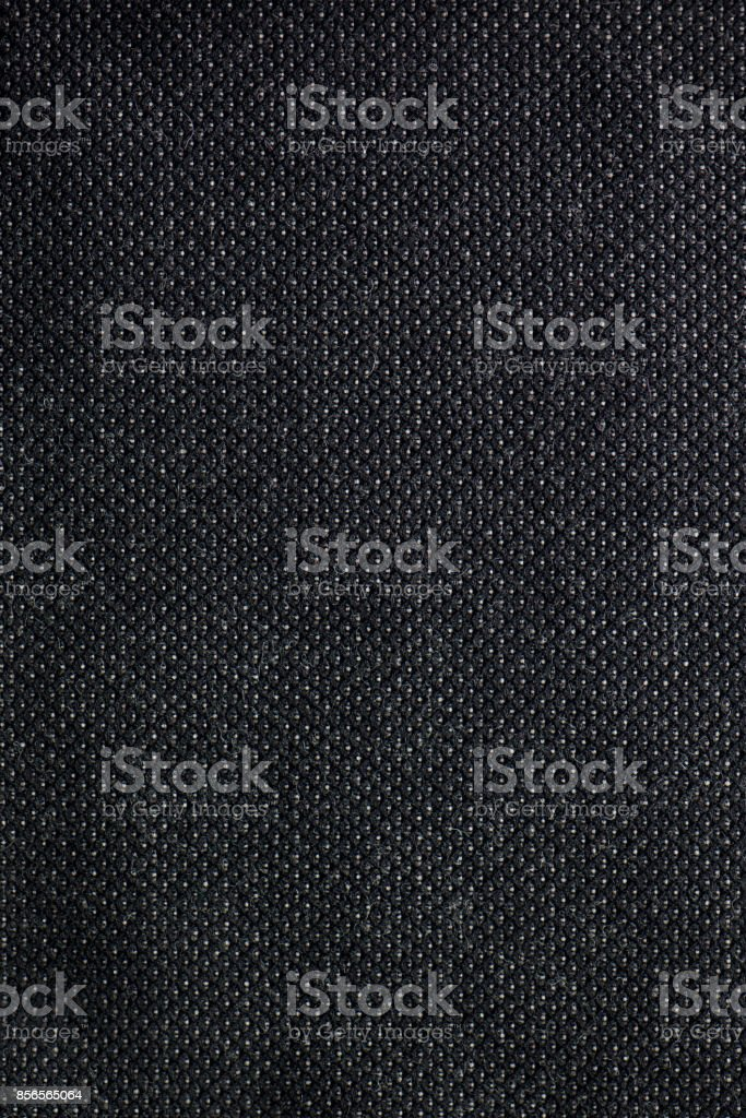 Textured Black Textile Fabric Swatch stock photo