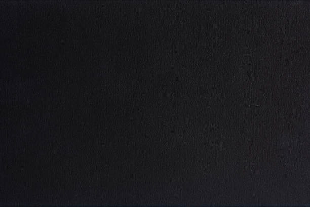 Textured blank black paper background - foto stock