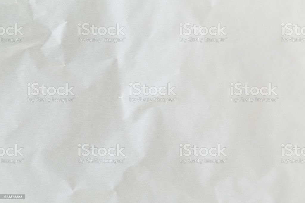 Textured blank crumpled paper of white color stock photo
