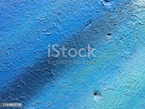 istock Textured blue painted background 1144603726