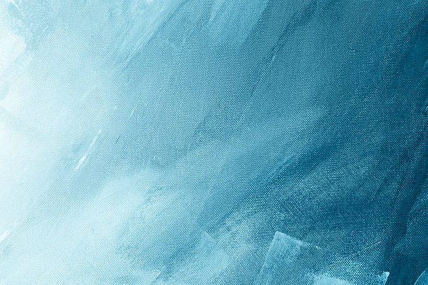 Textured blue painted background Textured blue winter painting canvas wallpaper background brush stroke stock pictures, royalty-free photos & images