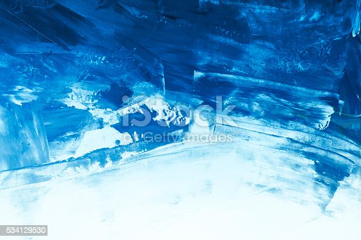 511118930 istock photo Textured blue painted background 534129530