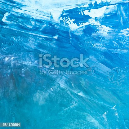 istock Textured blue painted background 534129564