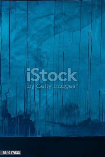 istock Textured blue painted background 534917500