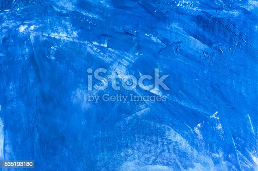 istock Textured blue painted background 535193180