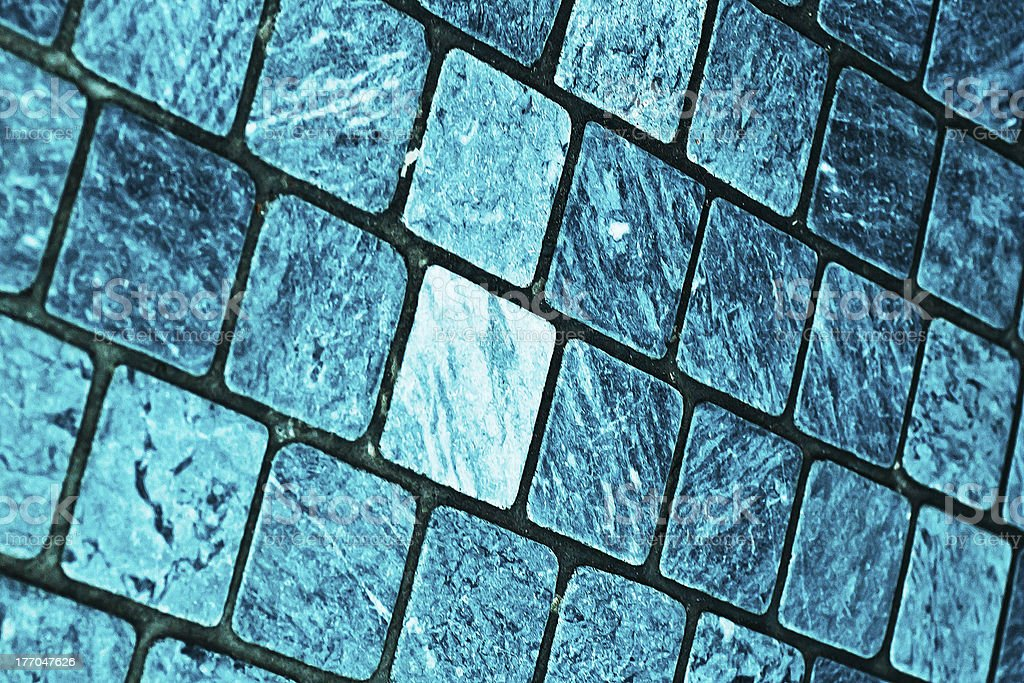 Textured Blue Tile Background royalty-free stock photo