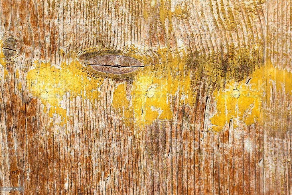 Marrom textura de fundo amarelo : Pintura em madeira antiga angustiada - foto de acervo