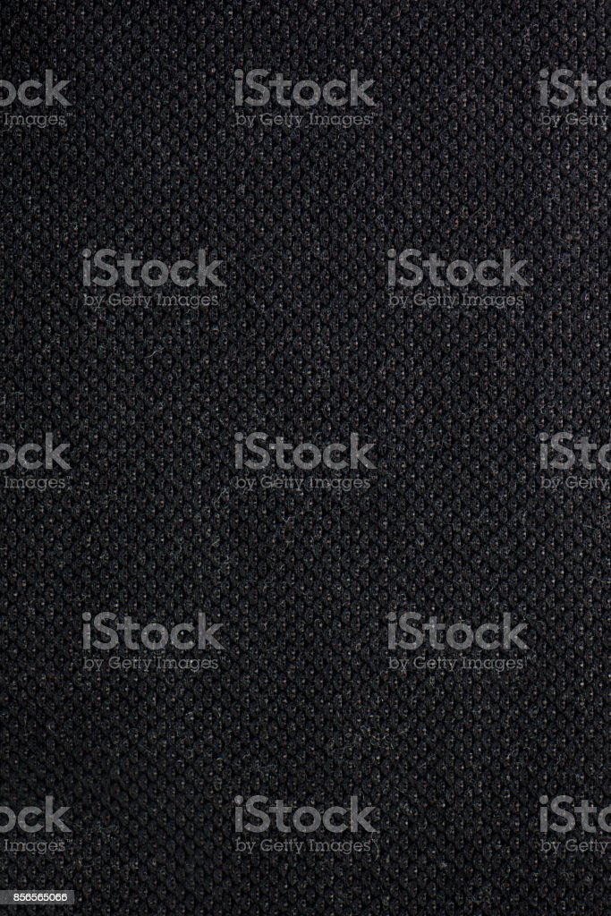 Textured Charcoal Black Textile Fabric Swatch stock photo