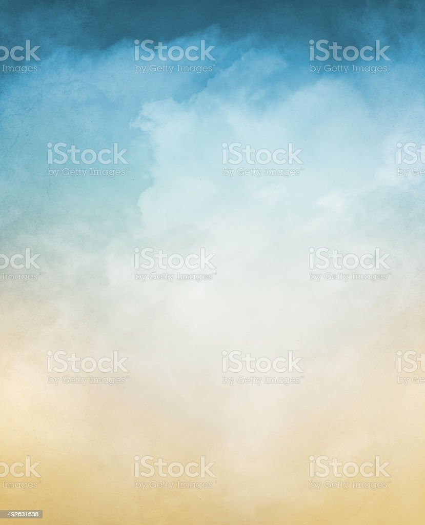 Textured Clouds with Gradient royalty-free stock photo