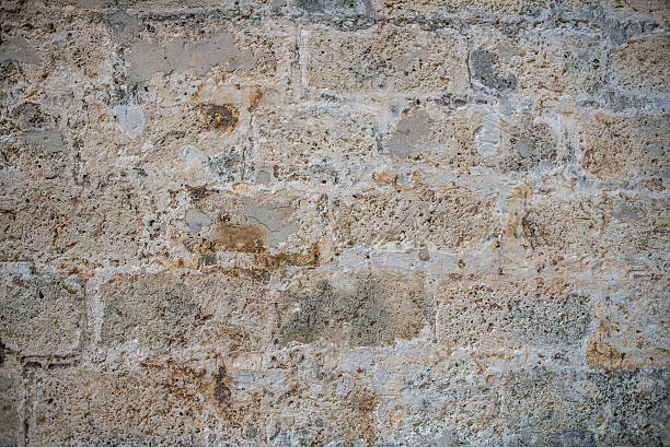 Textured concrete Wall with patching Plaster stock photo