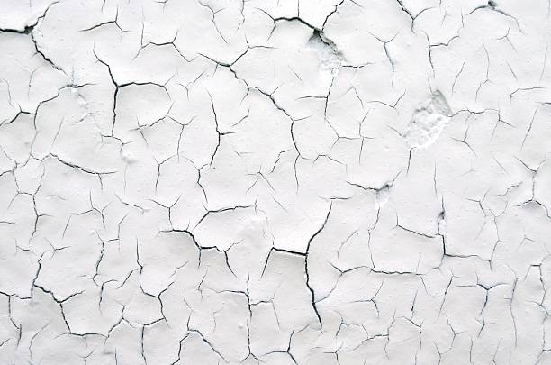 Textured Cracked White Paint Background stock photo
