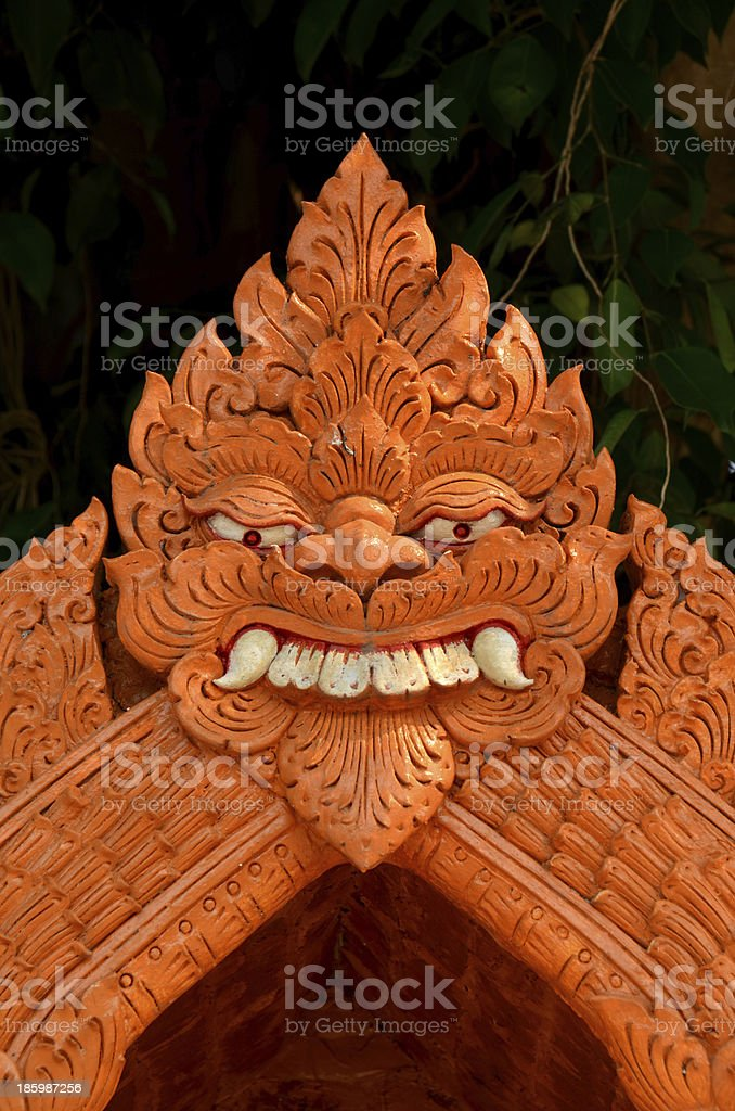 Textured detail thai royalty-free stock photo