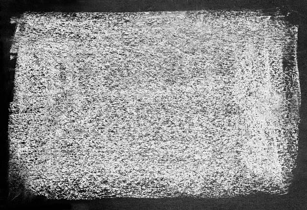 Textured Effect Background of dirty white texture on black. chalk art equipment stock pictures, royalty-free photos & images