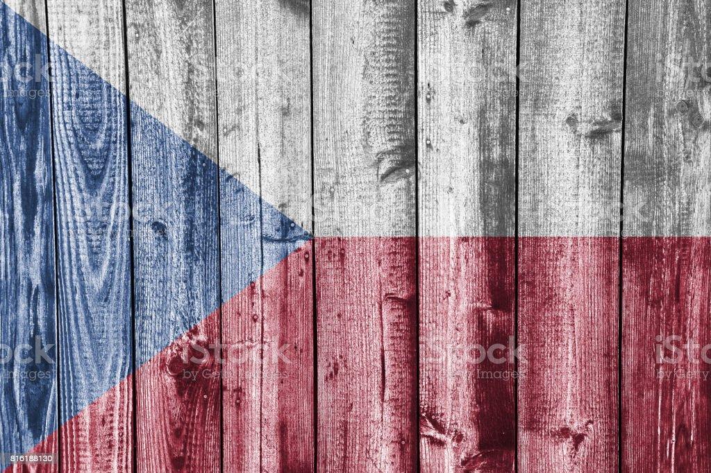 Bandera con textura de República Checa en colores agradables - foto de stock
