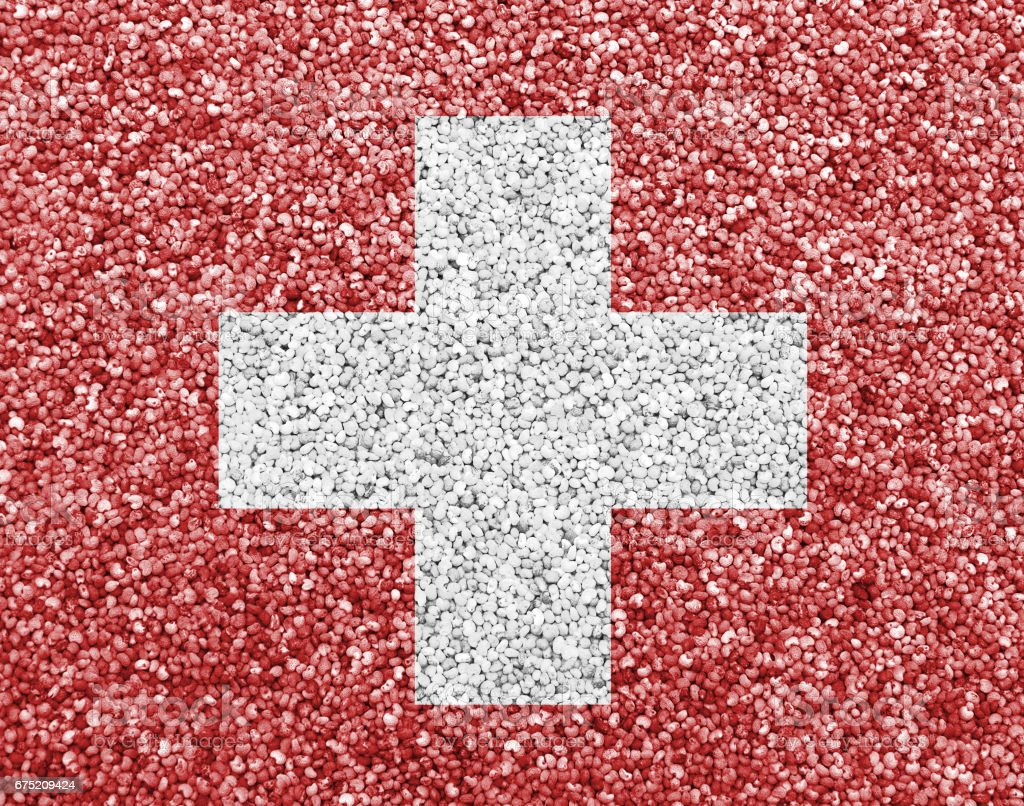 Textured flag of Switzerland in nice colors royalty-free stock photo