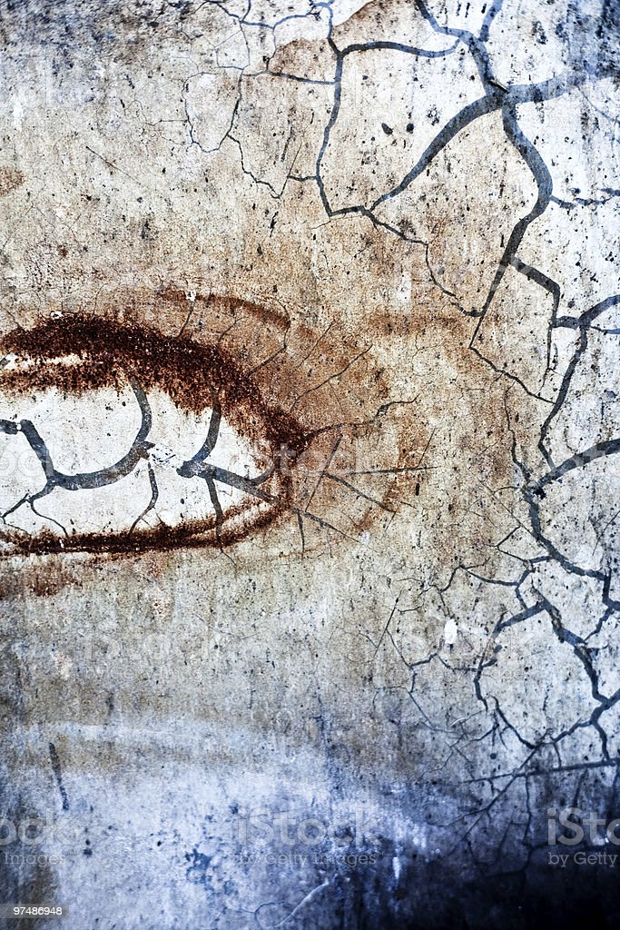 Textured grunge rusty background with cracks royalty-free stock photo