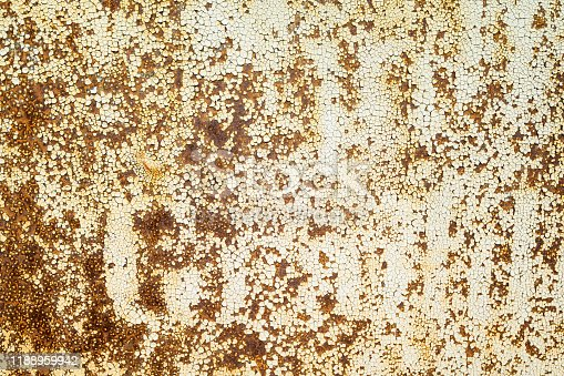 istock Textured old rust on the metal. 1188959942