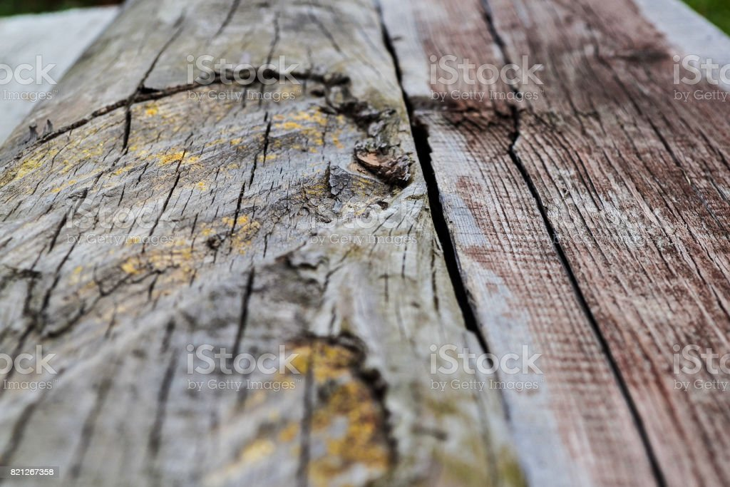 Textured old wooden board for a background retreating into the distance stock photo
