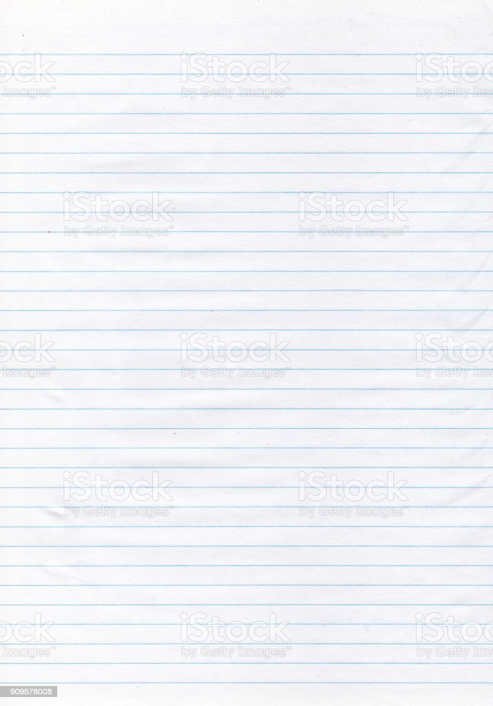 Textured paper - thin blue lined paper stock photo