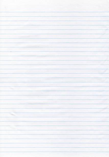 texturerat papper - tunn blå fodrad papper - linjerat papper bakgrund bildbanksfoton och bilder