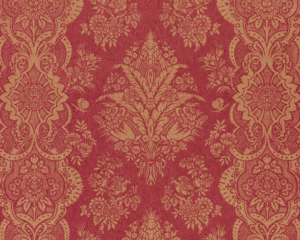 textured paper with antique ornament - baroque stock photos and pictures