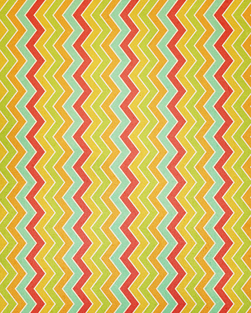 textured paper with chevron stripes stock photo