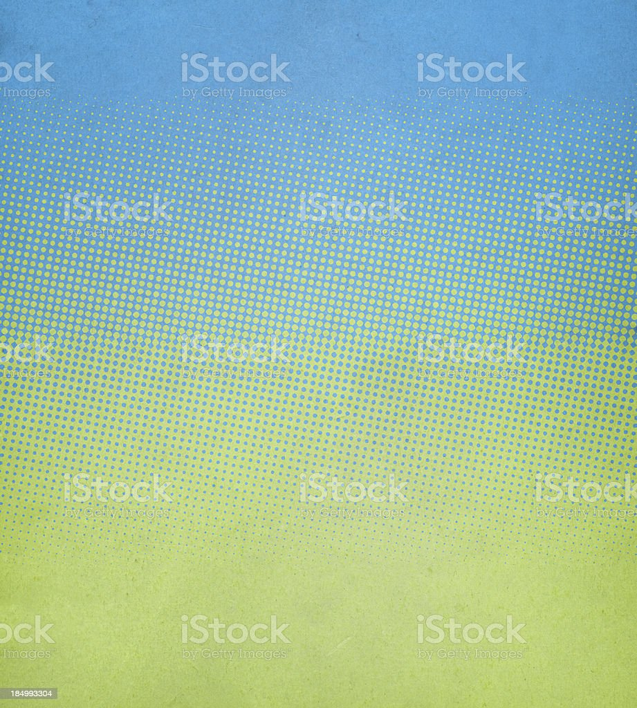 textured paper with spring colors and halftone stock photo