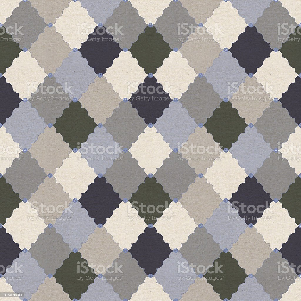 textured paper with vintage pattern royalty-free stock photo