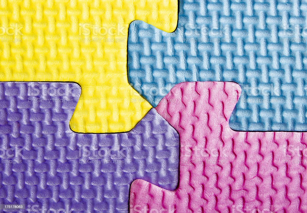 Textured Puzzle Pieces royalty-free stock photo