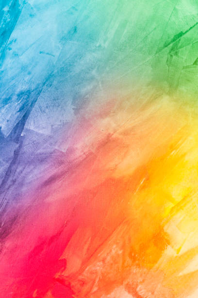 textured rainbow painted background - multi colored stock pictures, royalty-free photos & images