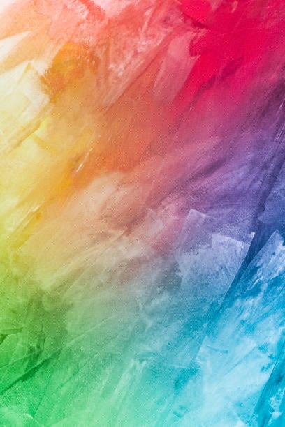 dokulu gökkuşağı arka plan boyalı - tuval üzerine akrilik stok fotoğraflar ve resimler