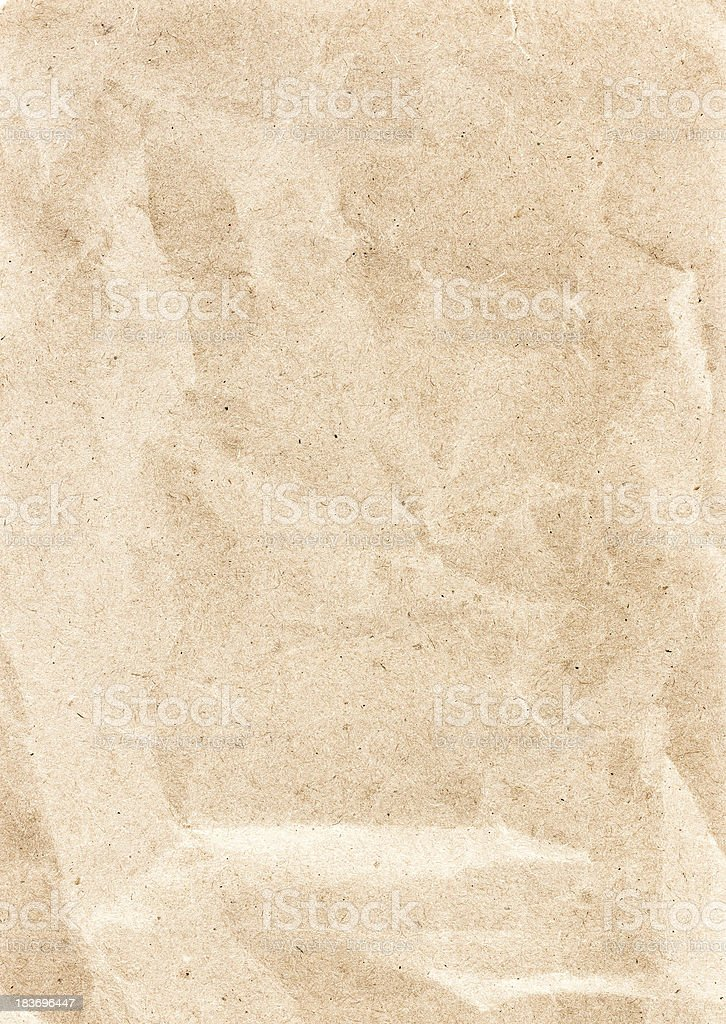 Textured recycled vintage light beige natural paper background. royalty-free stock photo