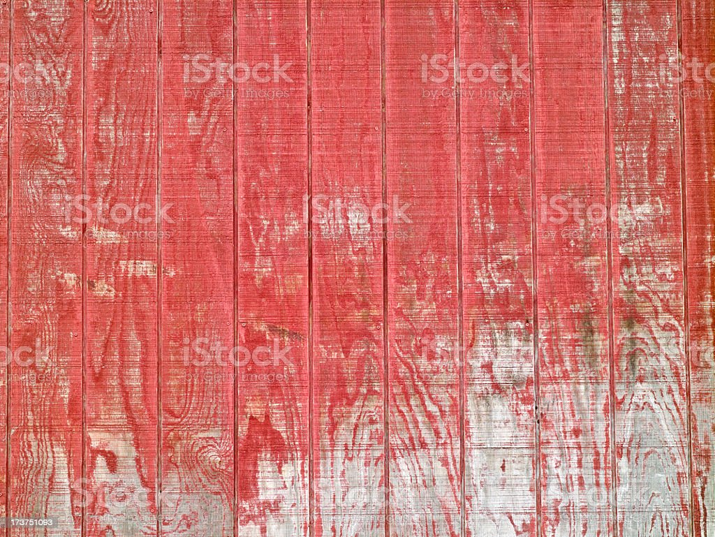 Textured red wood grained sided wall royalty-free stock photo