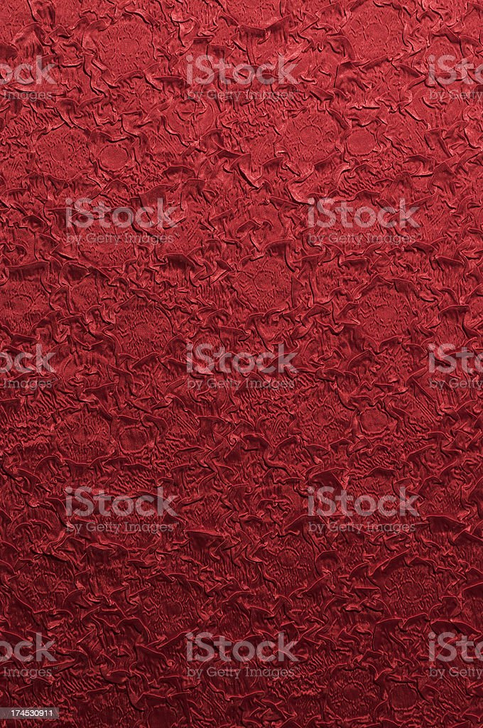 Textured Silky Red Fabric Background royalty-free stock photo