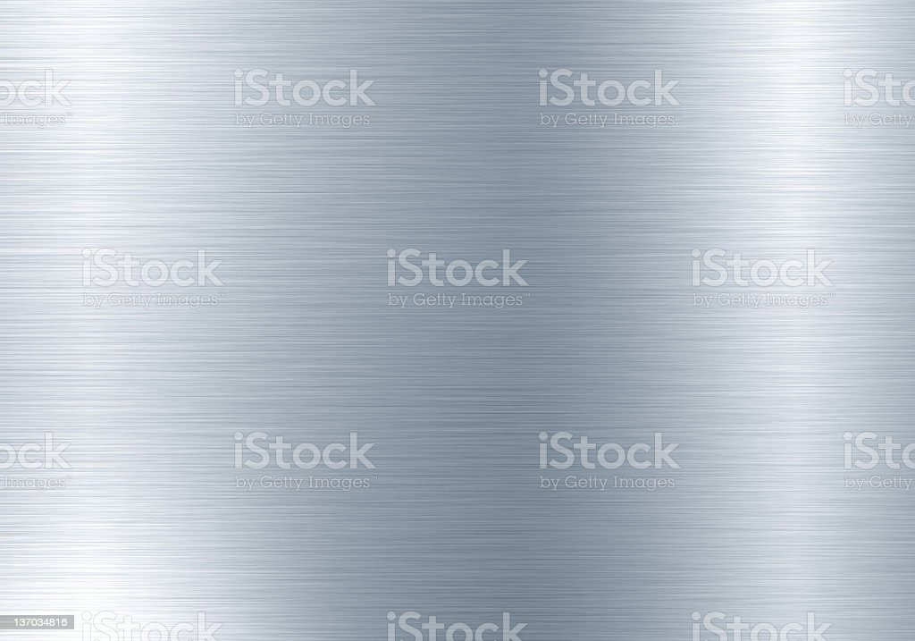 A textured, silver metal background stock photo