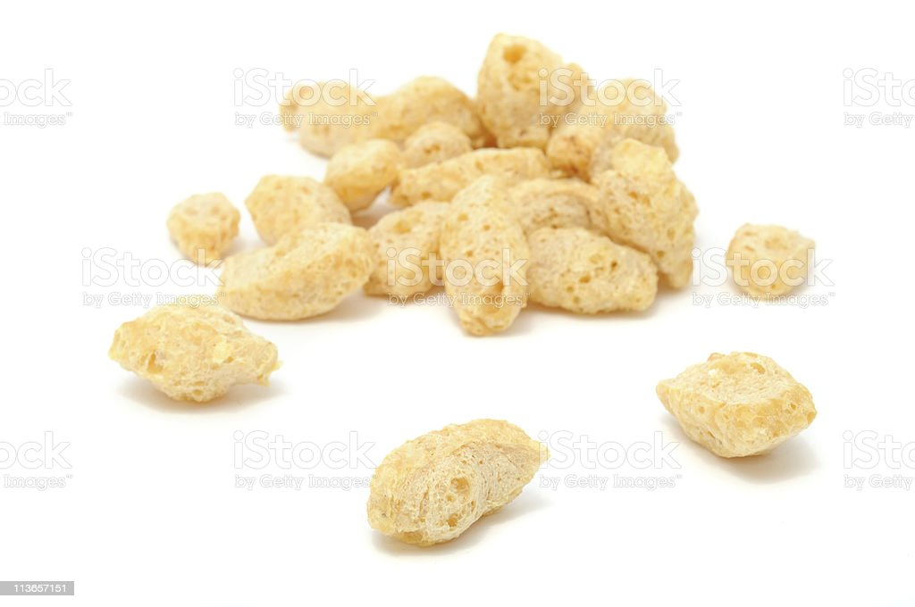 Textured Soy Protein (Soy Meat) stock photo